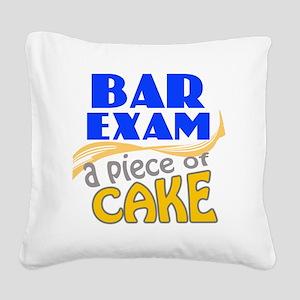 barexam-pieceofcake Square Canvas Pillow