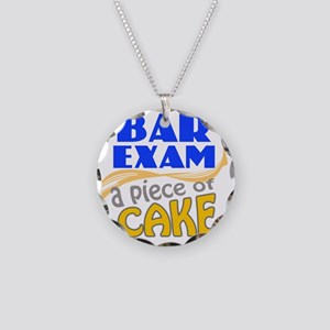 barexam-pieceofcake Necklace Circle Charm