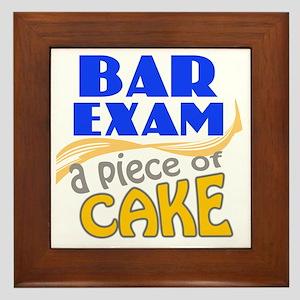 barexam-pieceofcake Framed Tile