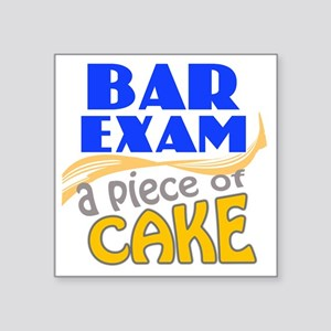 "barexam-pieceofcake Square Sticker 3"" x 3"""