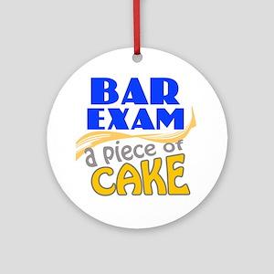 barexam-pieceofcake Round Ornament
