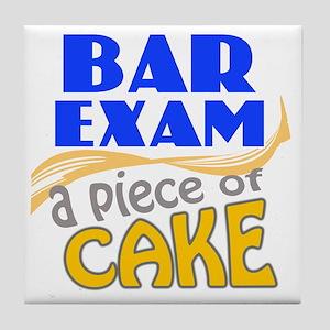 barexam-pieceofcake Tile Coaster