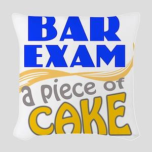 barexam-pieceofcake Woven Throw Pillow