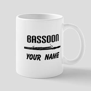 Personalized Bassoon Music Mugs