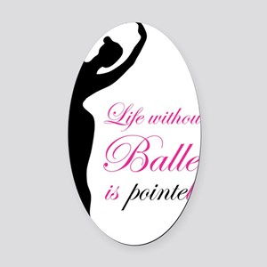 ballet2 Oval Car Magnet
