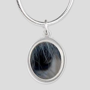 soul window Silver Oval Necklace