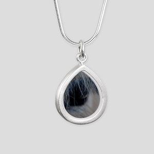 soul window Silver Teardrop Necklace