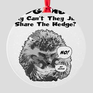 Hedgehog-Shirt Round Ornament
