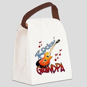 ROCKIN GRANDPA Canvas Lunch Bag