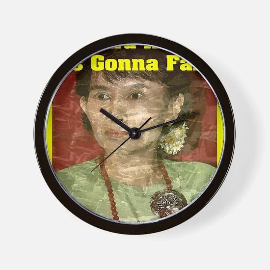 Aung_San_16x20 Wall Clock