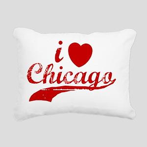 i love chicago shirt Rectangular Canvas Pillow