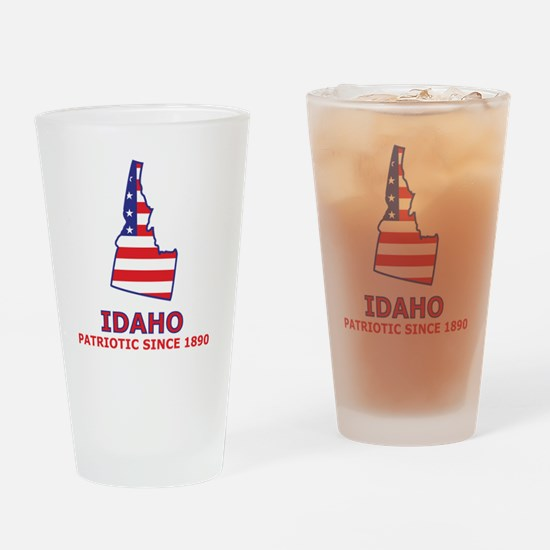 idaho_state_flag_map2 Drinking Glass
