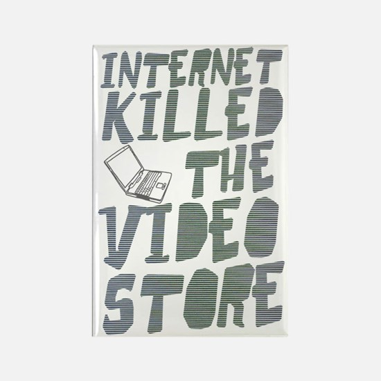 Internet killed video-2 Rectangle Magnet