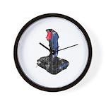 Worn Retro Joystick Wall Clock
