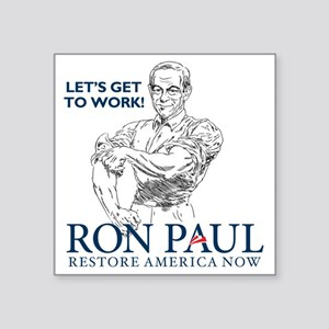 "Ron Paul 2012 Lets Get To W Square Sticker 3"" x 3"""