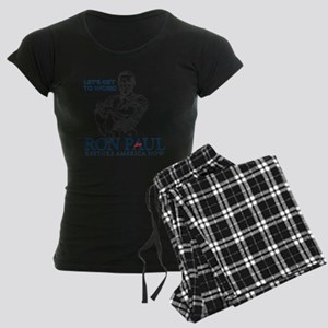 Ron Paul 2012 Lets Get To Wo Women's Dark Pajamas
