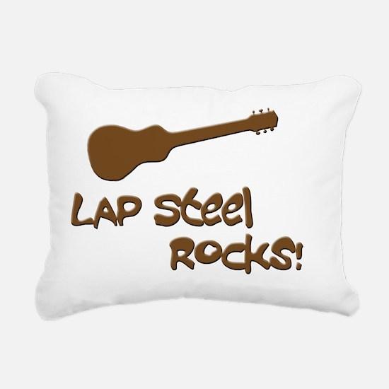Hawaiian lap steel rocks Rectangular Canvas Pillow
