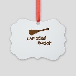 Hawaiian lap steel rocks Picture Ornament