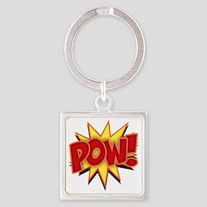 pow-bang-T Square Keychain