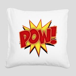 pow-bang-T Square Canvas Pillow