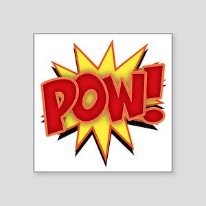 "pow-bang-T Square Sticker 3"" x 3"""