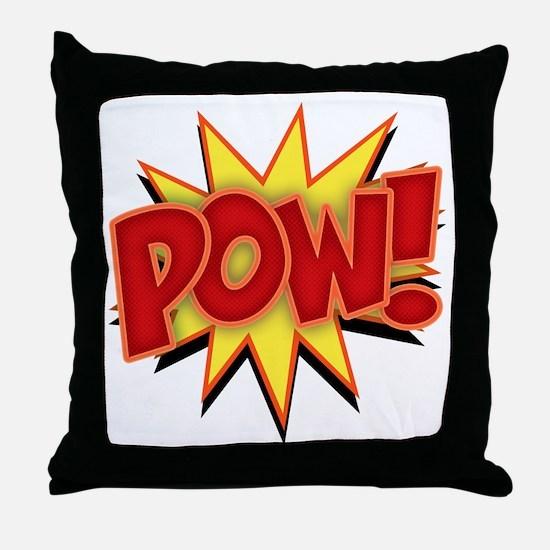 pow-bang-T Throw Pillow