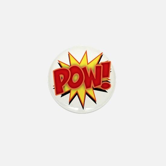 pow-bang-T Mini Button