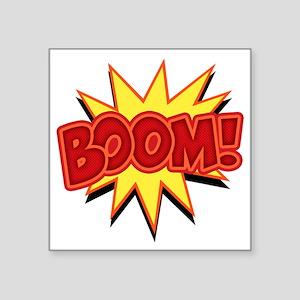 "boom-bang-T Square Sticker 3"" x 3"""