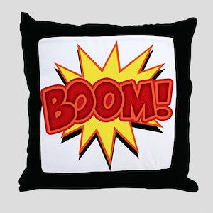boom-bang-T Throw Pillow
