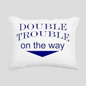 Funny expecting twins Rectangular Canvas Pillow