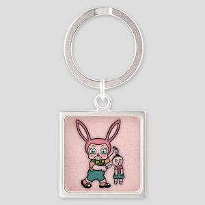bunny-eviler-TIL Square Keychain