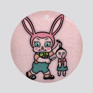bunny-eviler-TIL Round Ornament