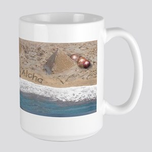 "Large Mug ""Footprints in the Sand"""