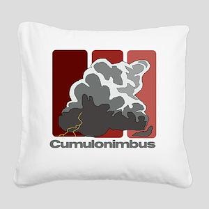 Cumulonimbus Square Canvas Pillow
