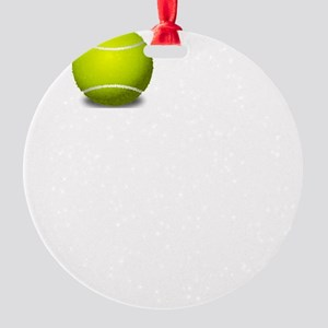 Love Means Nothing Tennis White Round Ornament