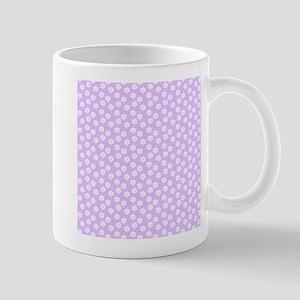Pastel Purple Floral Pattern Mugs
