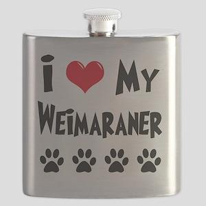I-Love-My-Weimaraner Flask