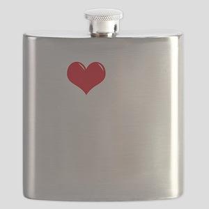 I-Love-My-Weimaraner-dark Flask