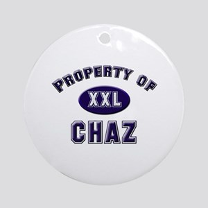 Property of chaz Ornament (Round)