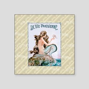 """Keepsake-Herouard-Mermaid n Square Sticker 3"""" x 3"""""""