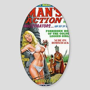 MANS ACTION, June 1969 -  Sticker (Oval)