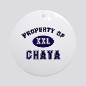 Property of chaya Ornament (Round)