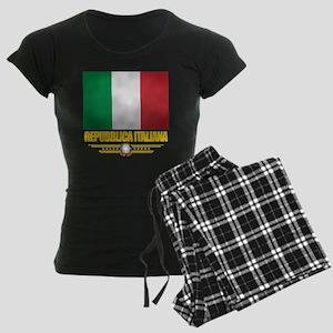 Italy (Flag 10) Women's Dark Pajamas