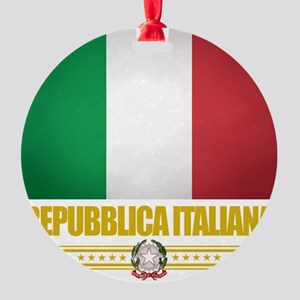 Italy (Flag 10) Round Ornament