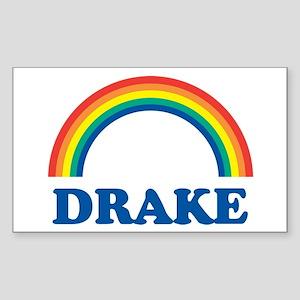 DRAKE (rainbow) Rectangle Sticker