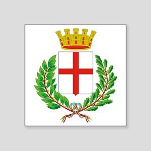 "Milano (Flag 10) pocket Square Sticker 3"" x 3"""