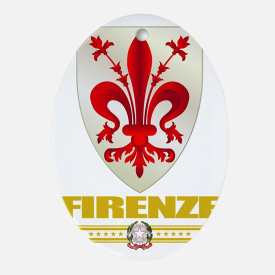 Firenze (Flag 10) Oval Ornament