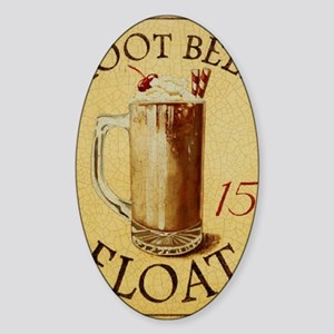 Root Beer Float BIG Sticker (Oval)