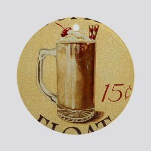 Root Beer Float BIG Round Ornament