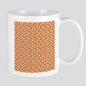 Floral Patern in Orange and Brown. Mugs